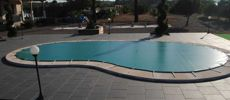 Lona piscina con forma